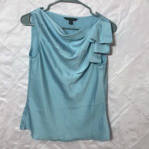 Banana Republic Light Blue Drape Blouse